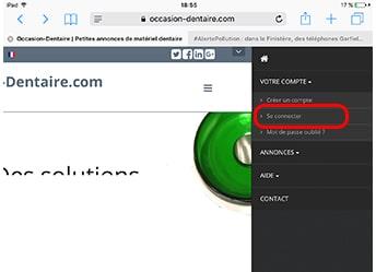 ouverture du menu sur tablette et smartphone