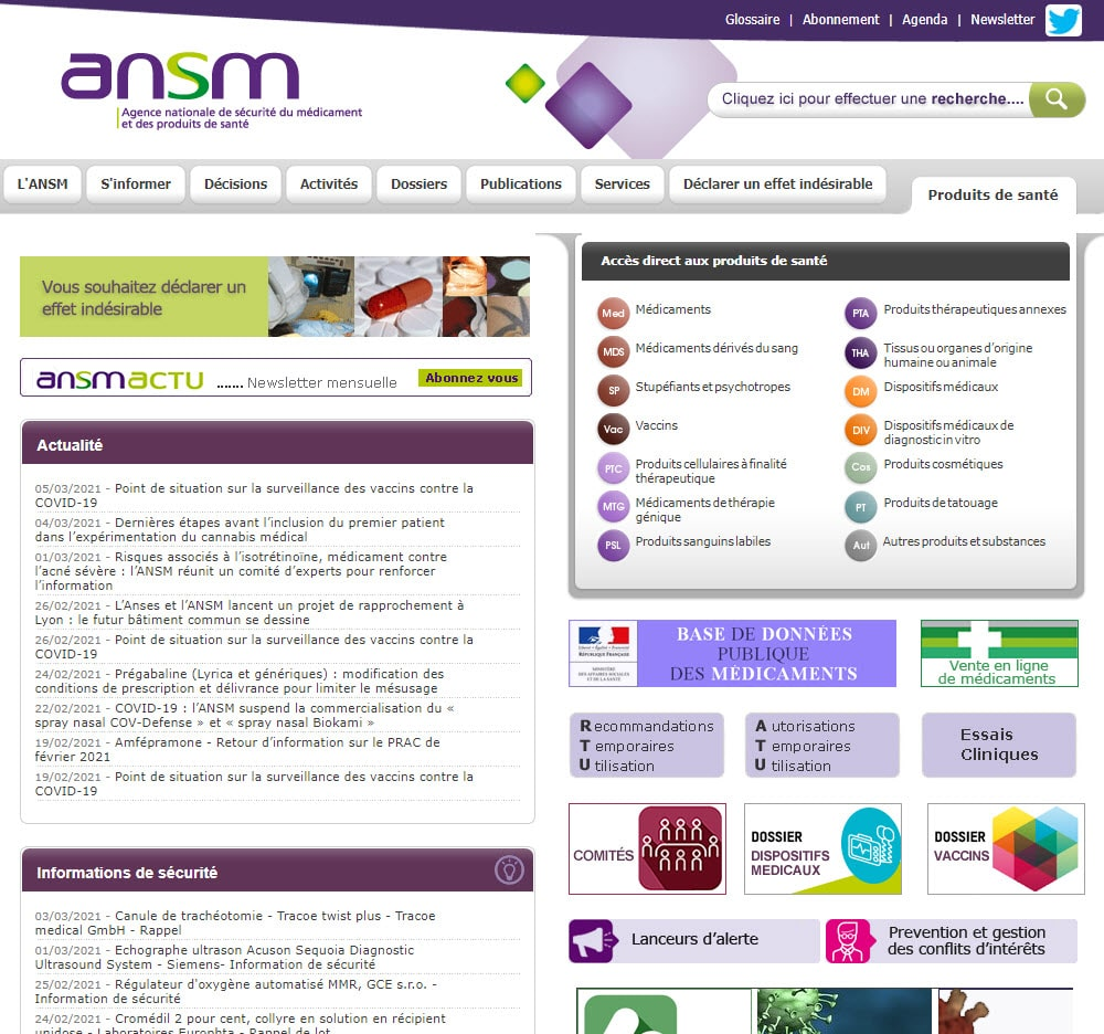 site de l'ANSM